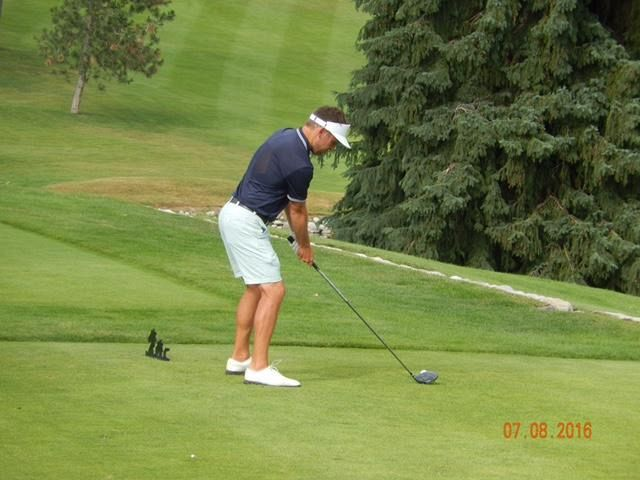 James Teeing it up on the 16th