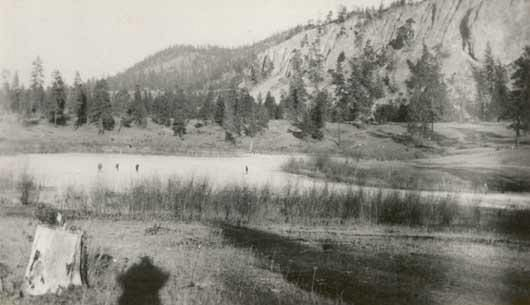 Ice Skaters. Kelowna Golf Links 1921