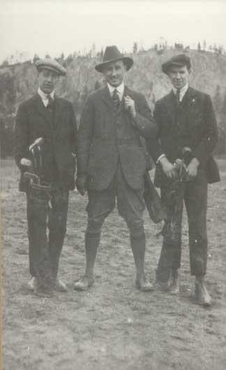 Dressed To Play 1929. L. Dumoulin, E.C. Weddell, R.F. Parkinson