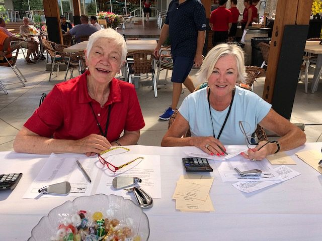 Jean and Frances at the scoring table