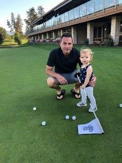 Shane's daughter tending the pin
